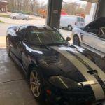 Dodge Viper in repair shop
