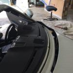 Porsche with windshield removed