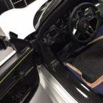 Porsche driver-side interior