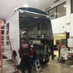 RV in the repair shop